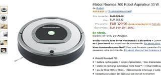 iRobot Roomba 760 Robot Aspirateur promo