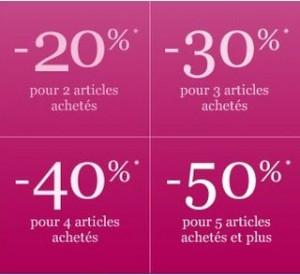 Jours VIP de -20 à -50% chez La Halle selon le nombre d'article acheté