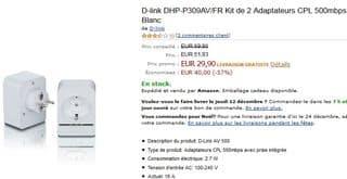 lot de deux adaptateurs CPL 500 mbps avec prise D-Link