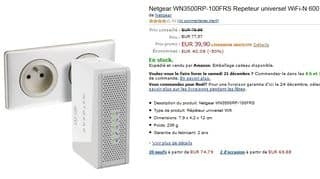 vente flash répéteur Dual Band Netgear N600