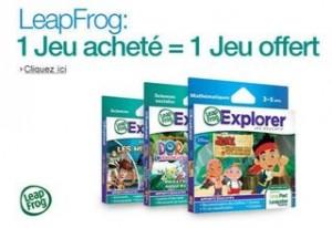 1 Jeu LeapFrog acheté = 1 Jeu 100% remboursé