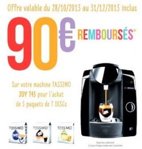 offre remboursement 90 euros Tassimo Joy Bosch