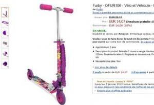 patinette Furby moitie prix
