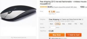 Moins de 4 euros la souris sans fil ultra fine 1600 DPI