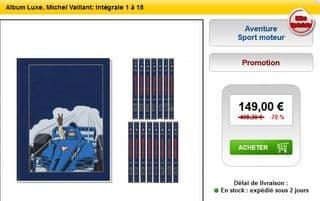 vente flash Michel Vaillant integrale 1 a 15 Luxe