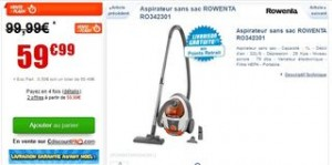 vente flash aspirateur sans sac Rowenta
