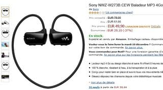 vente flash baladeur MP3 etanche Sony NWZ-W273B