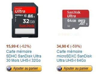 vente flash carte SD sandisk