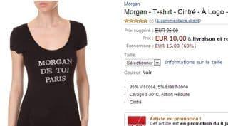 10 euros le T-shirt femme Morgan