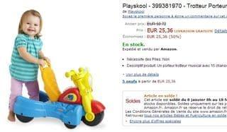 25 euros le Trotteur Porteur Musicale 2 en 1 Playskool