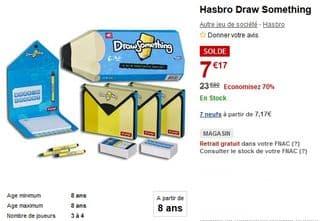 7 euros le jeu Draw Something Hasbro