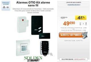 Alarmes OTIO Kit alarme sans fil