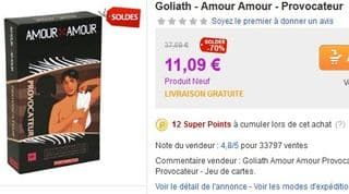 Amour Amour Provocateur de Goliath Priceminister