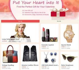 Cadeaux pas cheres pour la Saint Valentin