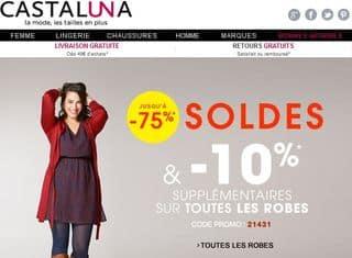 Castaluna : 10% suppl. sur les robes en Soldes