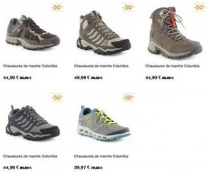 Chaussures de marche Columbia moitie prix