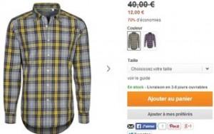Chemise homme Mexx a 12 euros