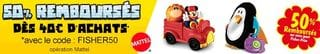 Code promo Fisher Price 50 pourcent