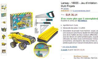 Coffret Fabrikid Visseuse Multi Projets Lansay moins cher