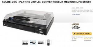 Convertisseur de disque vinyle Medion a 59 euros