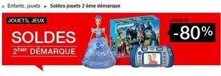 Deuxieme demarque jouets FNAC  2014