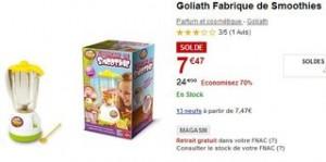 La fabrique de Smoothies pour enfants Goliath à 7,47 euro au lieu de plus de 20 euros.