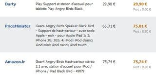Gear4 Angry Birds moins cher