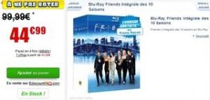 L'Intégral des 10 saisons Friends en Blu-ray à 44,99 euros au lieu de 99,99 euros