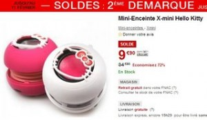 Mini-Enceinte Hello Kitty X-mini a moins de 10 euros