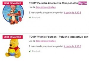 Moins de 10 euros la peluche interactive Tigrou ou Winnie de TOMY