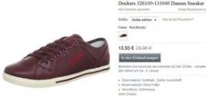 Moins de 14 euros les baskets Dockers femmes