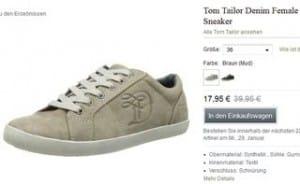 Moins de 18 euros les baskets Tom Tailor femme