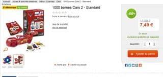 Moins de 8 euros le jeu 1000 bornes Cars 2