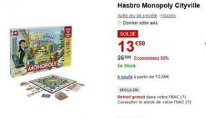 Moitié prix : Monopoly Cityville