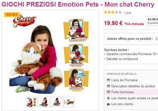 Mon chat Cherry Emotion Pets moins de 20 euros