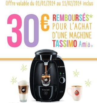 26 euros la cafetière à dosette Tassimo Bosch (après ODR de 30 euros) ODR 2014