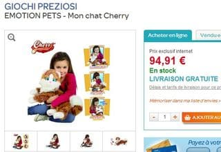 Peluche interactive Mon chat Cherry Emotion Pets