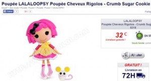 Poupée Lalaloopsy Crumb sugar cookie
