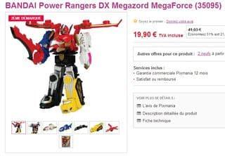 Power Rangers DX Megazord Mega pas chere