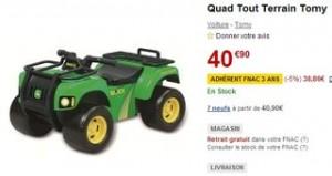 Quad Tout Terrain Tomy moins cher