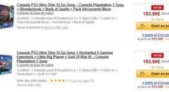 c7ff657d76dca 183 euros le Pack Console PS3 Ultra Slim 12 Go ( PS3 + Wonderbook + Book of  Spells + Pack Découverte Move ou PS3 + Uncharted 1 Gamme Essentiels +  Little Big ...