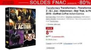 SOLDES coffret 5 DVD Transformers Star Trek GI Joe Watchmen