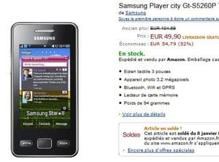 Samsung Player city a moins de 50 euros