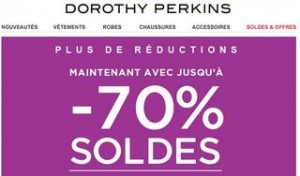 Soldes Dorothy Perkins 2014