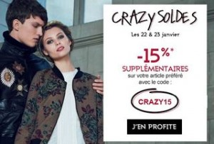 Soldes Galeries Lafayette code promo 15 pourcent