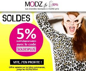 Soldes sur le site de déstockage de vêtements MODZ