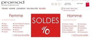 Soldes Promod hiver 2014