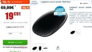 Soldes Souris Tactile Logitech T620