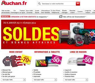 Soldes hiver Auchan
