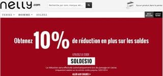 Soldes hiver Nelly 2014 code promo